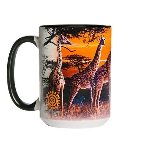 Sundown Giraffe Ceramic Mug | The Mountain®