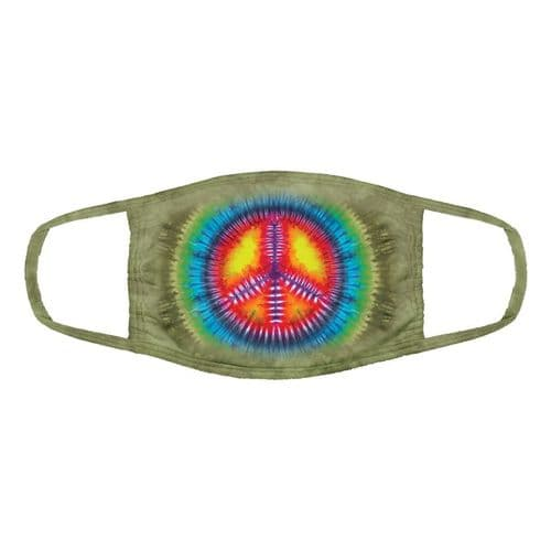 Triple Layer Peace Tie-Dye Face Mask | The Mountain®