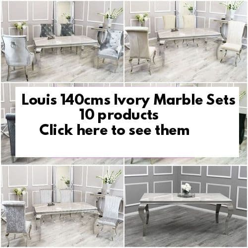 140cms Louis Ivory  Marble  Dining Tables