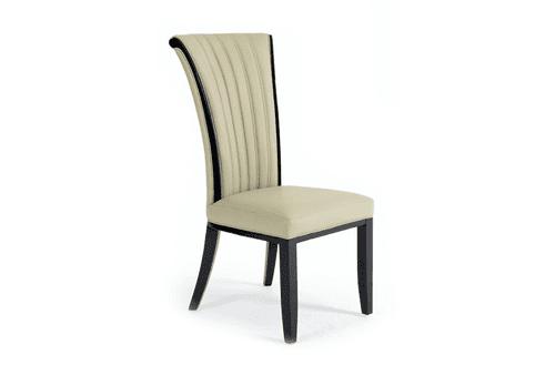 Almeria Cream Leather Dining Chairs