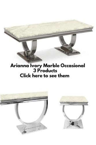 Arianna Ivory Smoked Marble Occasional Furniture