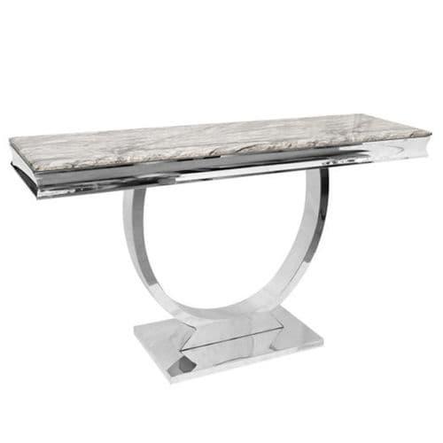 Arianna Light Grey Marble Console Table