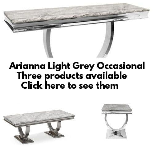 Arianna Light Grey Occasional Furniture