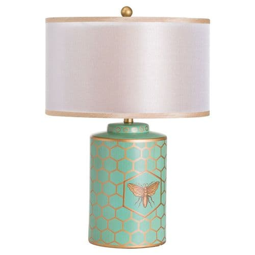 Bee Table Lamp With Double Layer Shade