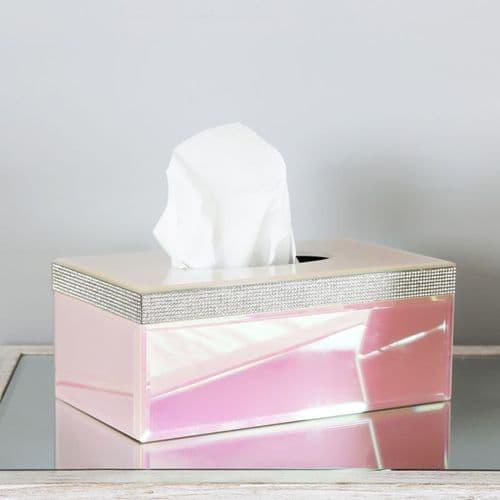 Glitz And Pink Lustre Rectangular Tissue Box Holder