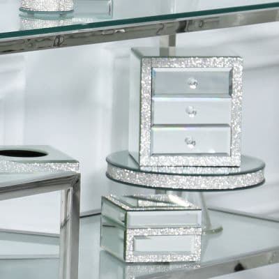 Glitz Mirrored 3 Drawer Jewellery Box