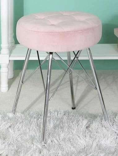Lauren Pink Dressing Stool