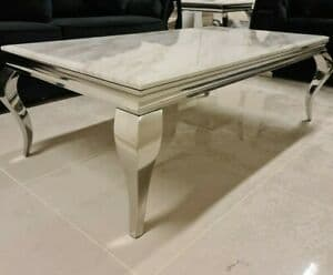 Lorie White Marble Coffee Table