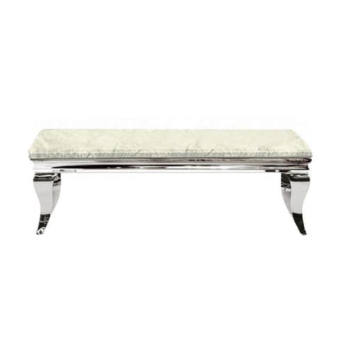 Louis Ivory Smoked  Marble Coffee Table