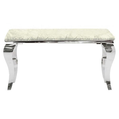 Louis Ivory Smoked  Marble Console Table