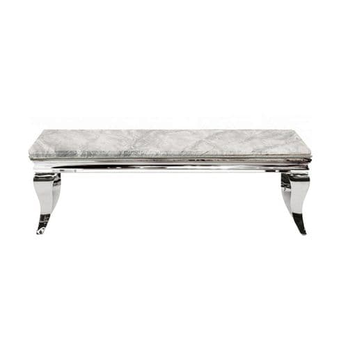 Louis Light Grey Marble Coffee Table