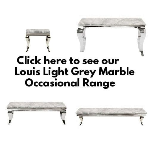 Louis Light Grey Marble Occasional Furniture