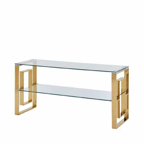 Milan Gold & Glass Entertainment Unit