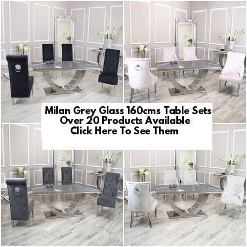 Milan Grey Glass 160cms Dining Tables
