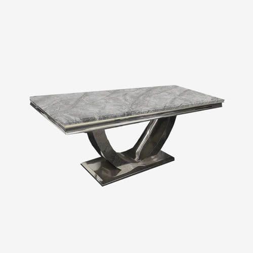 Milan Light Grey Marble Occasional Furniture
