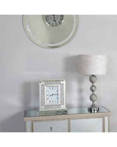 Milan Mirrored Glitz Table Clock