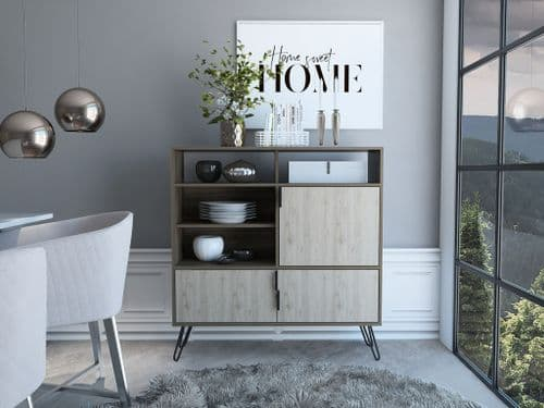 Nordic Tall Wide Sideboard