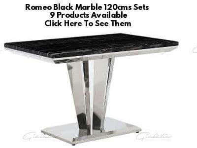 Romeo Black Marble 120cms Dining Tables
