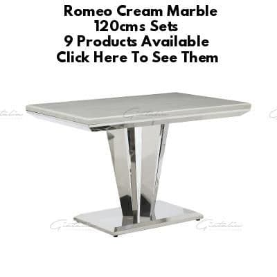 Romeo Cream Marble 120cms Dining Tables