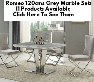 Romeo Grey Marble 120cms Dining Tables