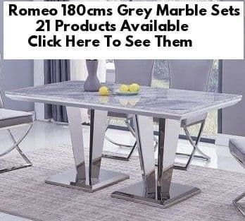 Romeo Grey Marble 180cms Dining Tables