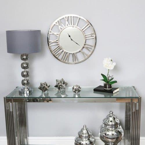 Round 50cm Chrome Wall Clock