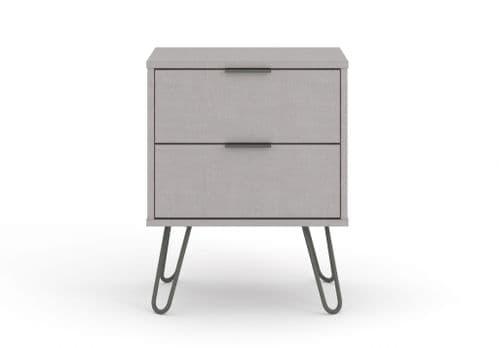 Scandi Grey Bedside Cabinet