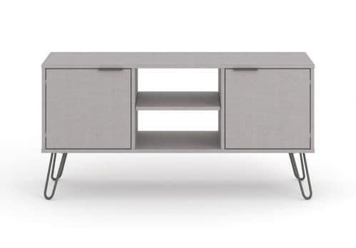 Scandi Grey Two Door TV Cabinet