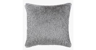 Set Of Two Grey Fuzzy Cushions