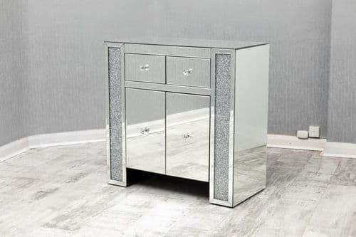 SOLD OUT- Crushed Diamond Mirrored Sideboard