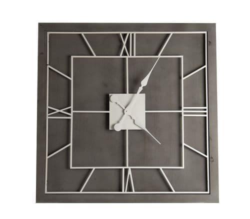Williston Grey Large Square Wall Clock